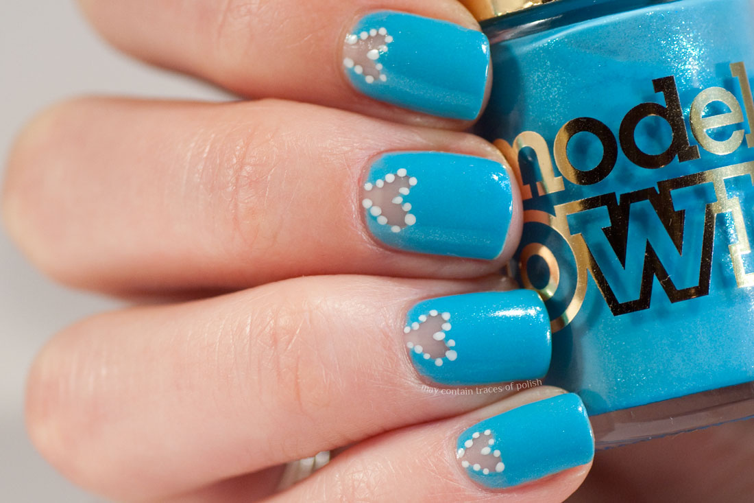 Minimalist Blue Valentine\'s Day Nails - May contain traces of polish