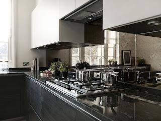 |A Mirrored Kitchen Backsplash