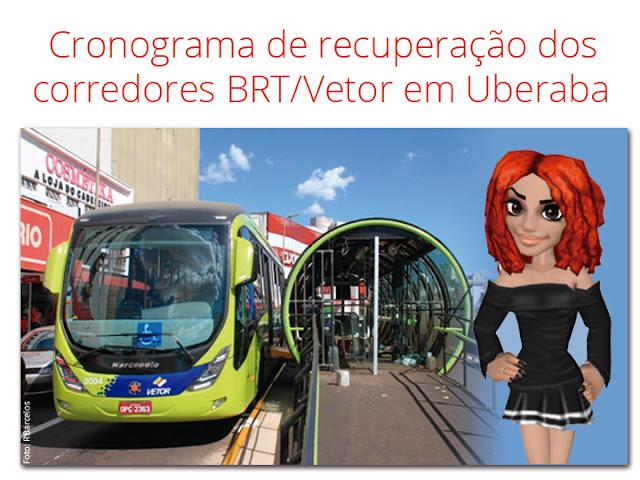 Cronograma de obras no corredor do BRT Vetor em Uberaba blog mineira sem freio