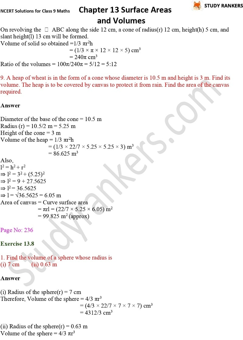 NCERT Solutions for Class 9 Maths Chapter 13 Surface Areas and Volumes Part 21