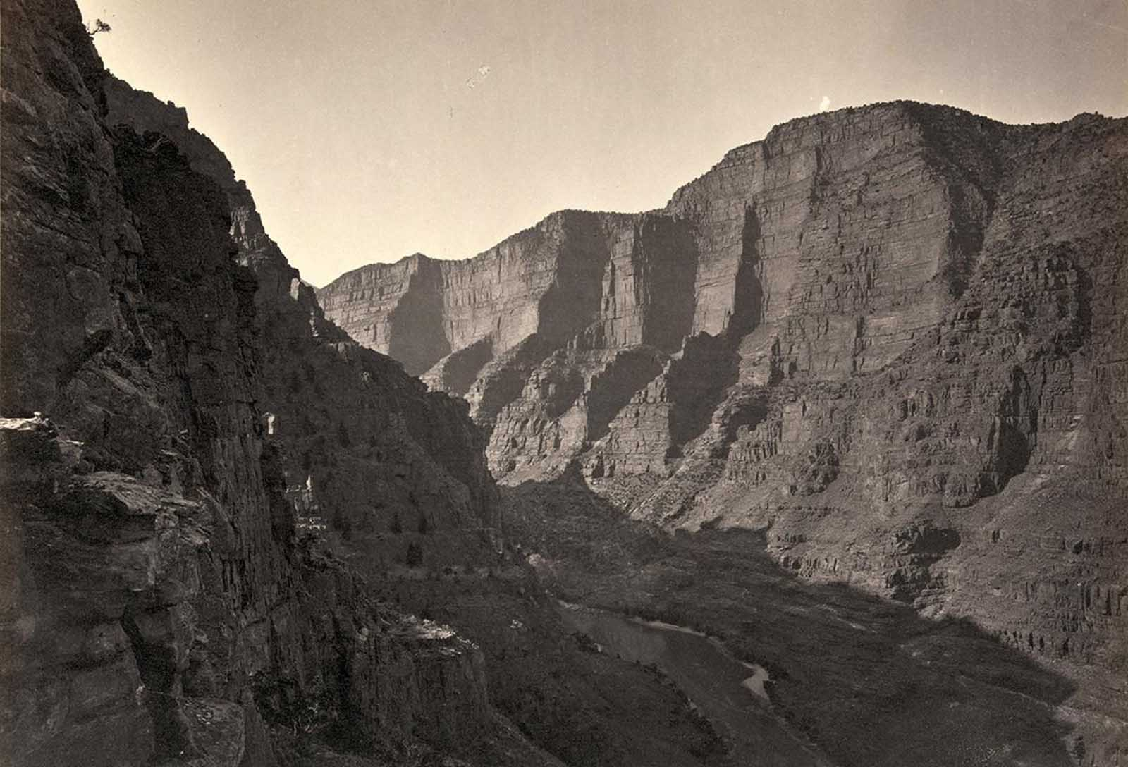 The Canyon of Lodore, Colorado, in 1872.