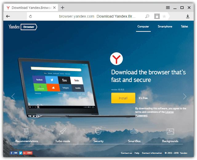 تحميل متصفح ياندكس للكمبيوتر على رابط مباشر