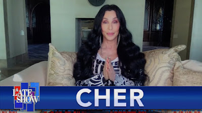 """Cher Visits Our Preferred Late Night Talk Show Host Stephen Colbert Discussing Everything From Singing Back-Up For The Ronettes & Her  New Doc, """"Cher and the Loneliest Elephant""""!"""