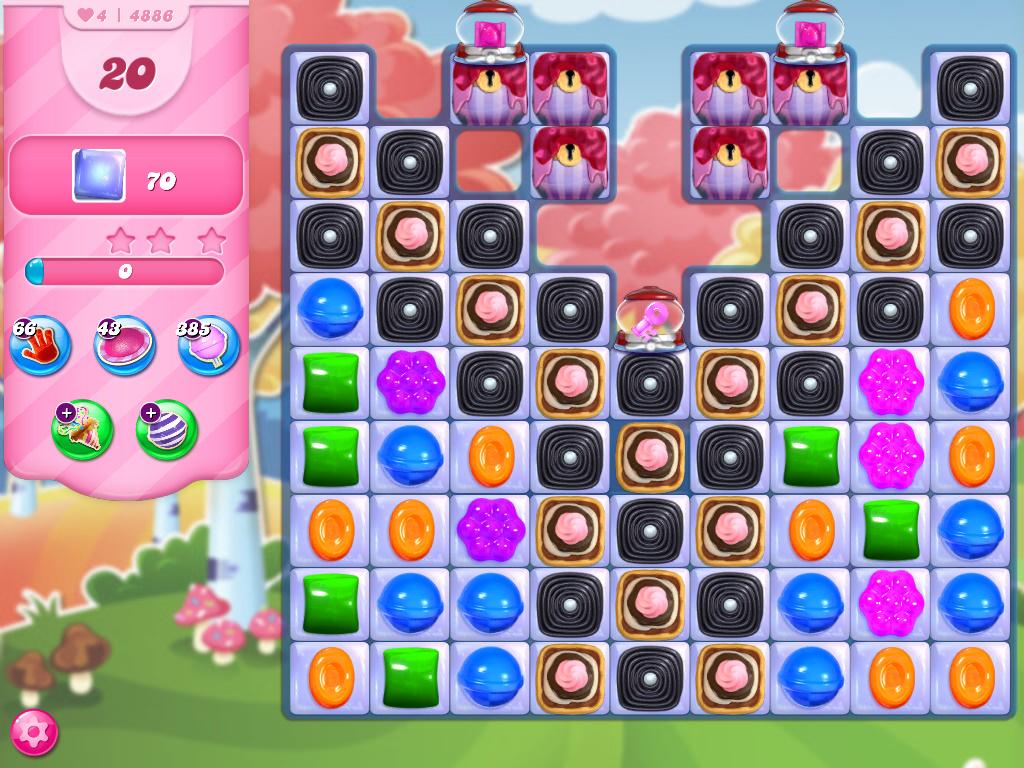 Candy Crush Saga level 4886