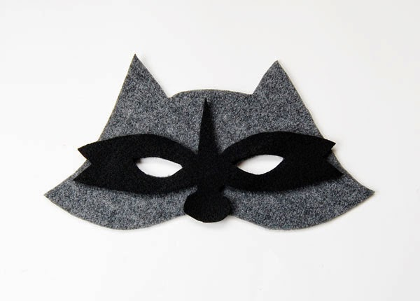 The Craftinomicon: Make Your Own Felt Raccoon Mask Raccoon Eye Mask