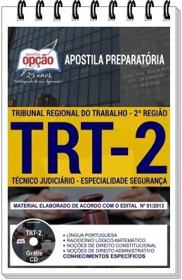 Apostila do TRT 2 Região especialidade Segurança