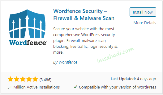 Mengamankan WordPress Dengan Wordfence Security