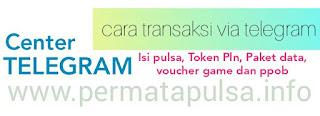 Transaksi pulsa via telegram