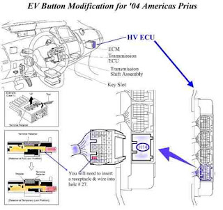 2004 Prius EV (Electric Vehicle) Button Installation Instructions