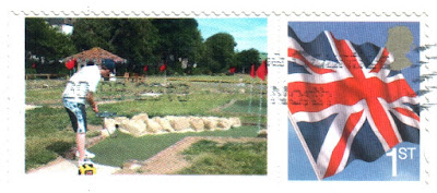 A minigolf stamp of Splash Point Mini Golf in Worthing