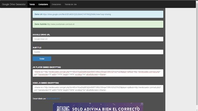 JWPlayer Embed Encriptador WPRafael, Grifus, Blogger