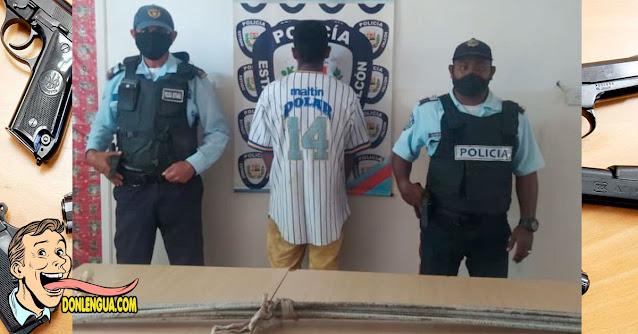 Peligroso delincuente capturado en Chichiriviche robando 4 cabillas oxidadas