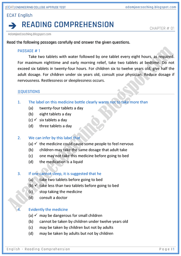 ecat-english-reading-comprehension-mcqs-for-engineering-college-entry-test