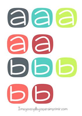 Letras infantiles minúsculas para imprimir