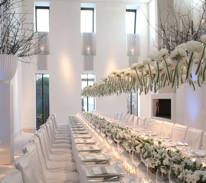 Long tables wedding receptions belle the magazine for Cool wedding decoration ideas