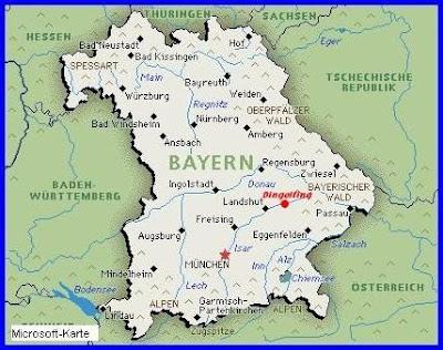 regierungsbezirke bayern landkarte
