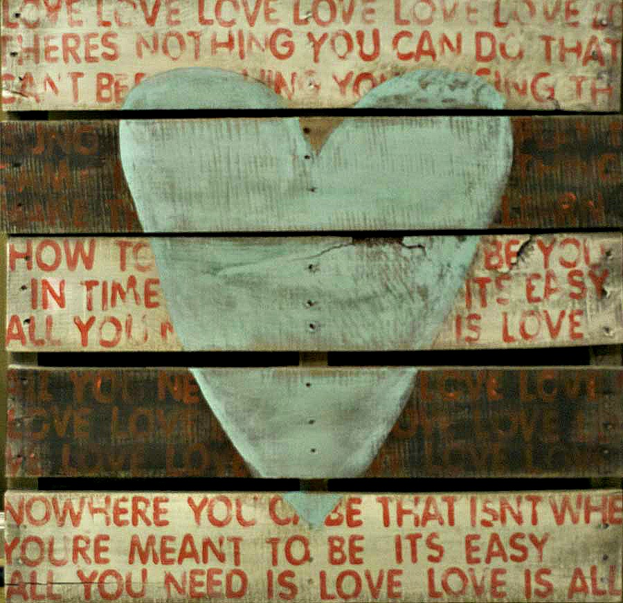 Oh I Heart This So Much Esp How Everything Centres: Pamela Joyce: From Pallet To Art With A Beatles Twist
