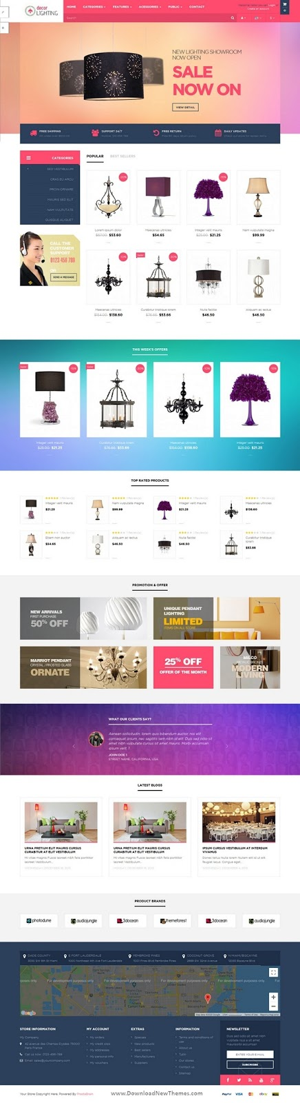 Pts DecorLighting Prestashop 1.6 Theme