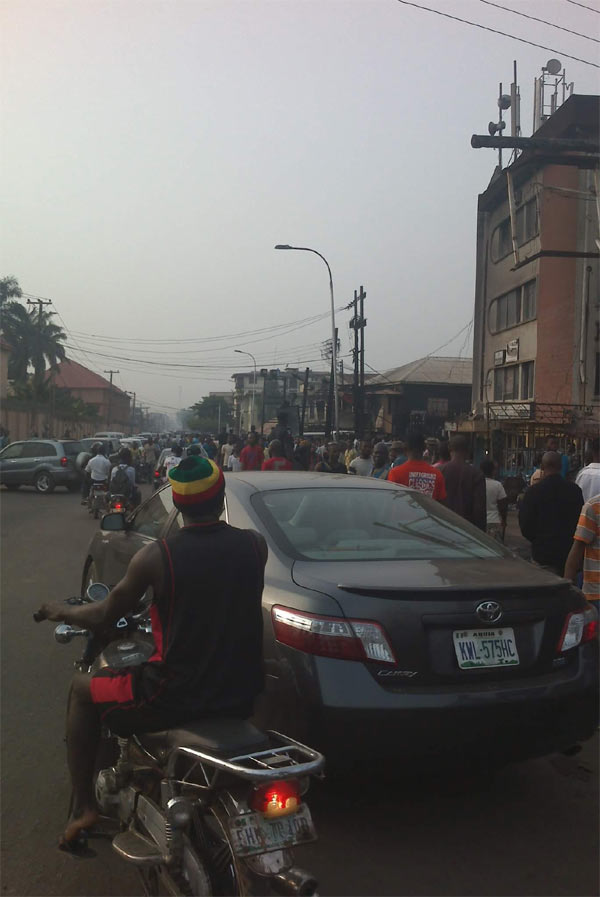 Properties worth millions consumed by fire outbreak at DMGS Roundabout, Onitsha