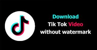 cara download video tik tok tanpa watermark tanpa menggunakan aplikasi