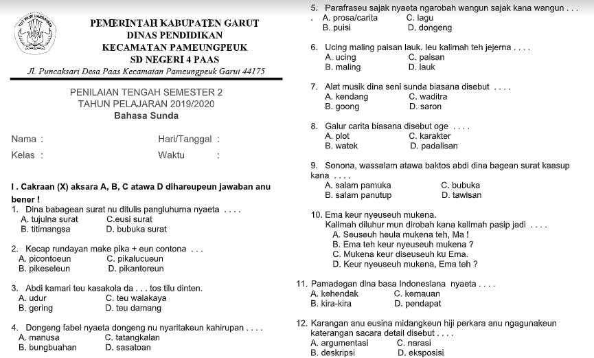 Bahasa Sunda Kelas 5 Semester 2 Ilmusosial Id