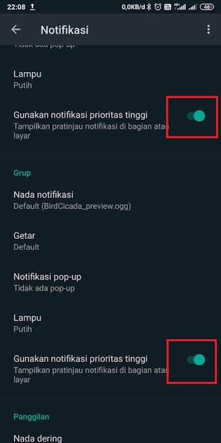 Cara Memunculkan Notifikasi Popup Whatsapp
