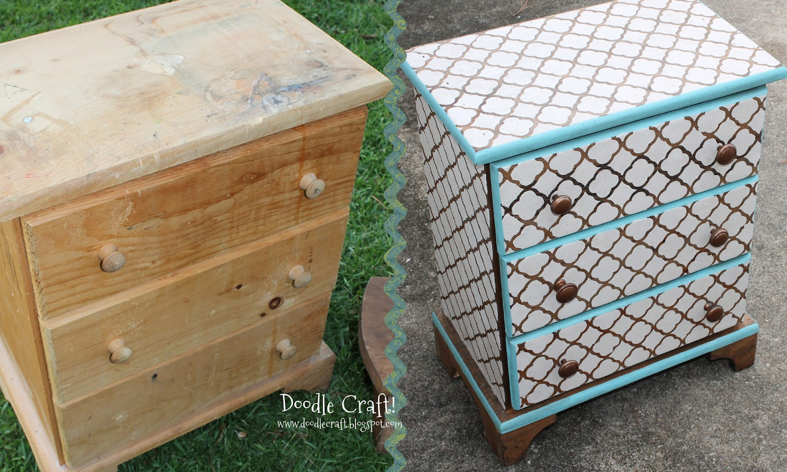 Custom DIY Stenciling & Staining furniture!
