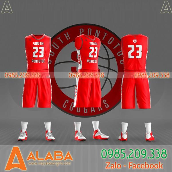Áo bóng rổ màu đỏ đẹp