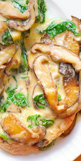 Easy Chicken Breasts with Spinach And Mushrooms