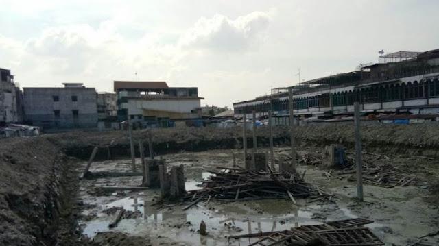 Pasar Kampung Lalang Dijanjikan Selesai Desember 2017, Tak Ada Tanda Pengerjaan, Kok Bisa?