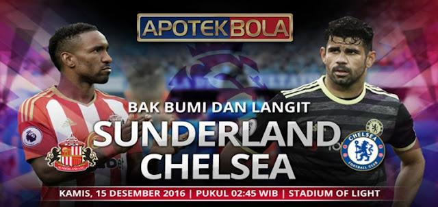Prediksi Pertandingan Sunderland vs Chelsea 15 Desember 2016
