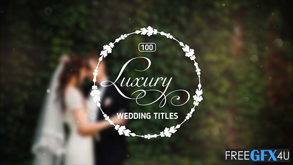 100 Luxury Wedding Animated Titles