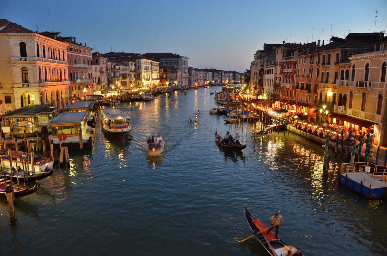 Вечерняя Венеция в Италии