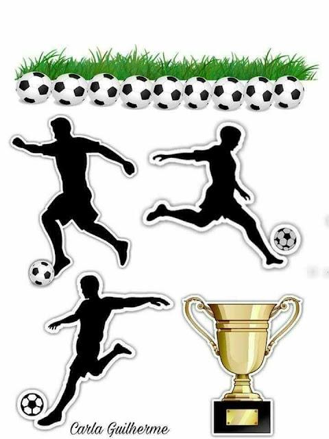 Fútbol: Toppers para Tartas, Tortas, Pasteles, Bizcochos o Cakes para Imprimir Gratis.