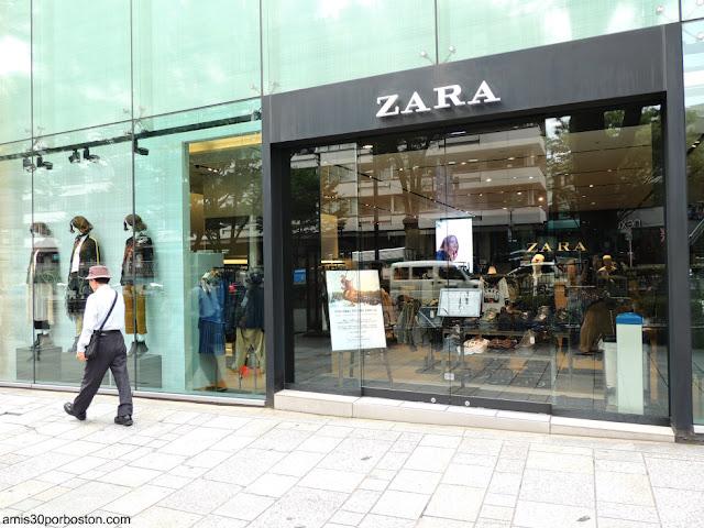 Una de las Tiendas de Zara en Tokio
