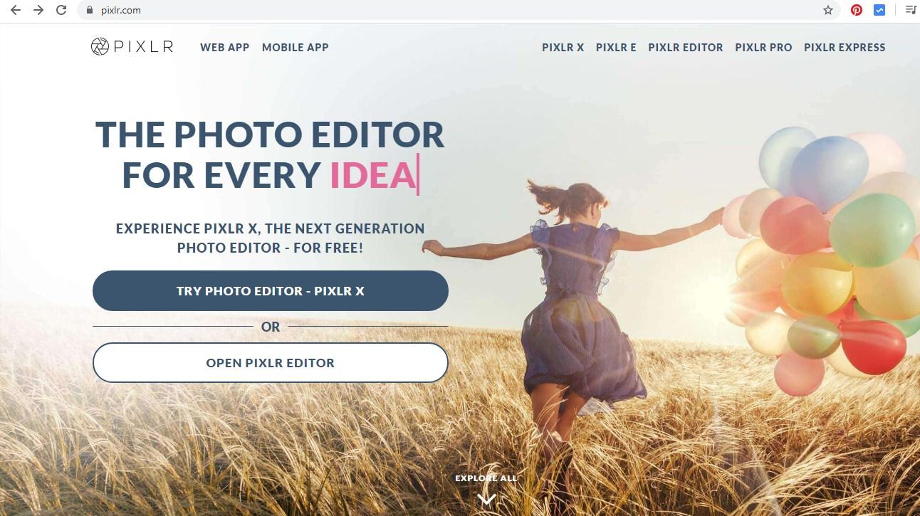 Edit Foto Gratis Dan Online Dengan Pixlr X