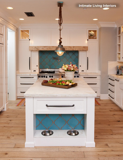 ... Are An Ideal Surface To Add Color And Interest To Your Kitchen. Here,  Instead Of Using White Glossy Subway Tile, The Designer Used A Fun Arabesque  Shape ...