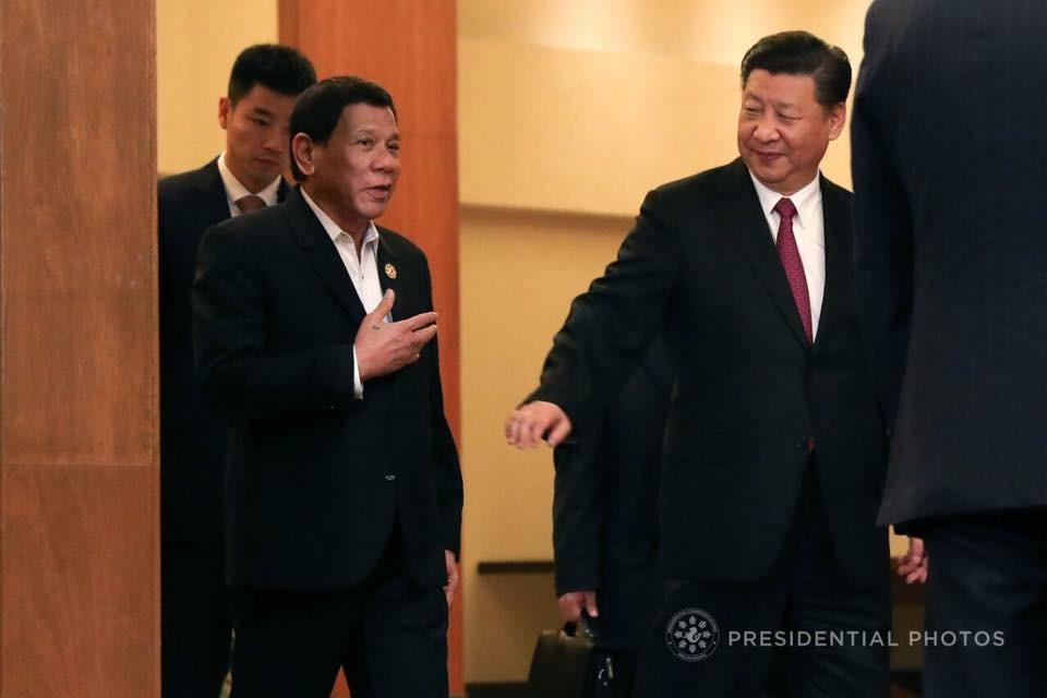 Duterte with Chinese President Xi Jinping