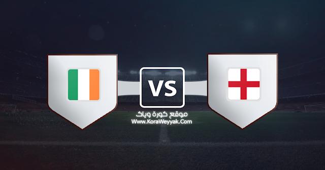 نتيجة مباراة إنجلترا وإيرلندا اليوم الخميس في مباراة ودية