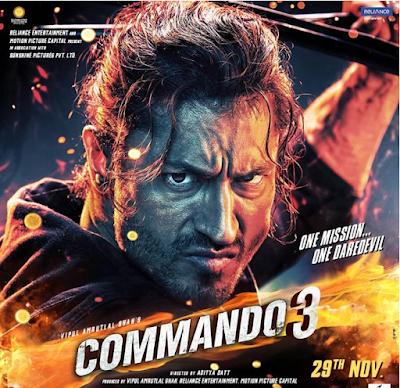 Tamilrockers 2019, Commando 3 Full Movie Download In 720p