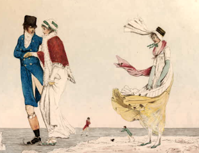 Winter Amusements - A Scene in France (1803)  Published by Laurie & Whittle © British Museum no. 1931,1114.287