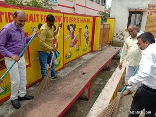 बीएसए ने स्वच्छता और स्कूल चलो अभियान पर दिया बल     #NayaSaberaNetwork
