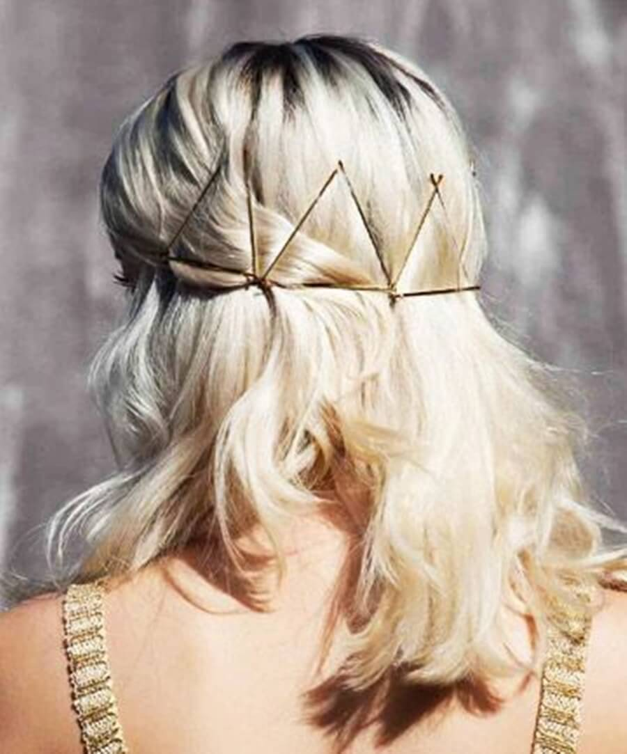 grampos no cabelo