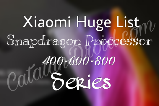 Daftar Hape2 Xiaomi Dengan Chipset Snapdragon 400-600-800 Terlengkap 2018