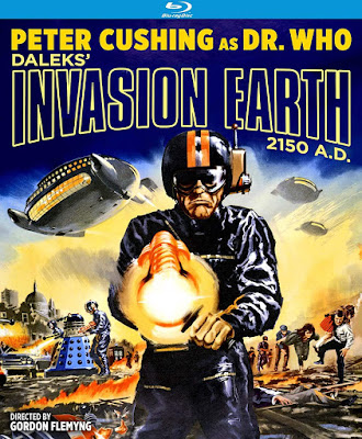Blu-ray cover for Kino Lorber's DALEKS' INVASION EARTH 2150 A.D.!