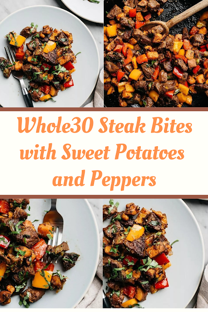Whole30 Steak Bites with Sweet Potatoes and Peppers