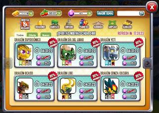 imagen de las promociones y ofertas de dragon city