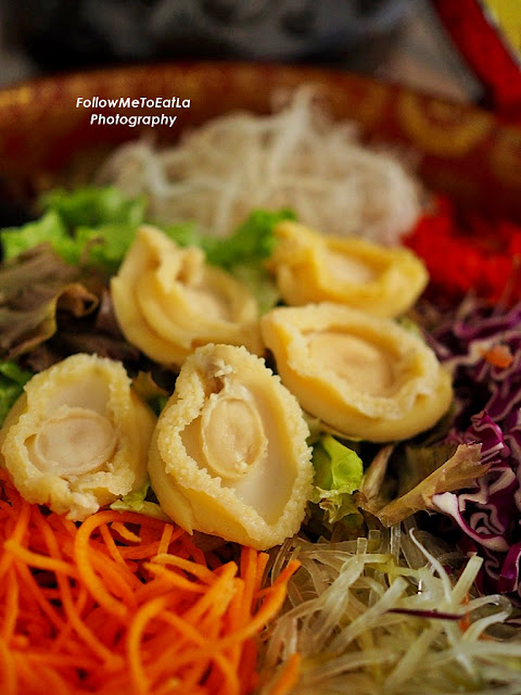 Health-Tealicious Abalone Yee Sang with Passion Fruit Sauce infused with Long Jing Tea