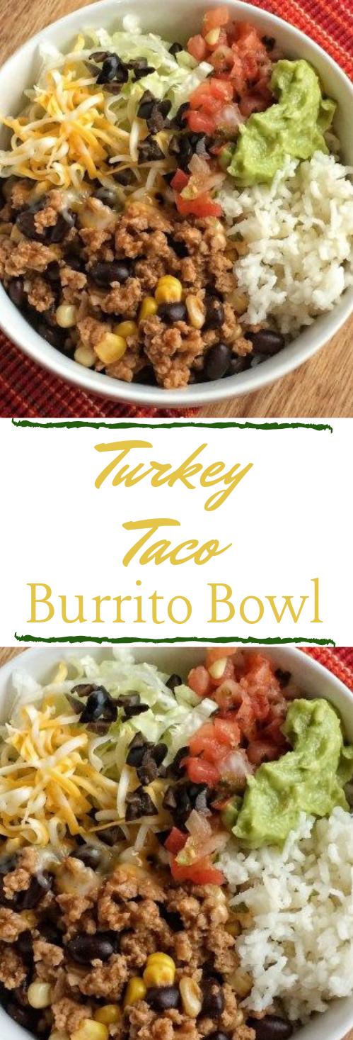 Turkey Taco Burrito Bowls #taco #burrito #dinner #healthylunch #food