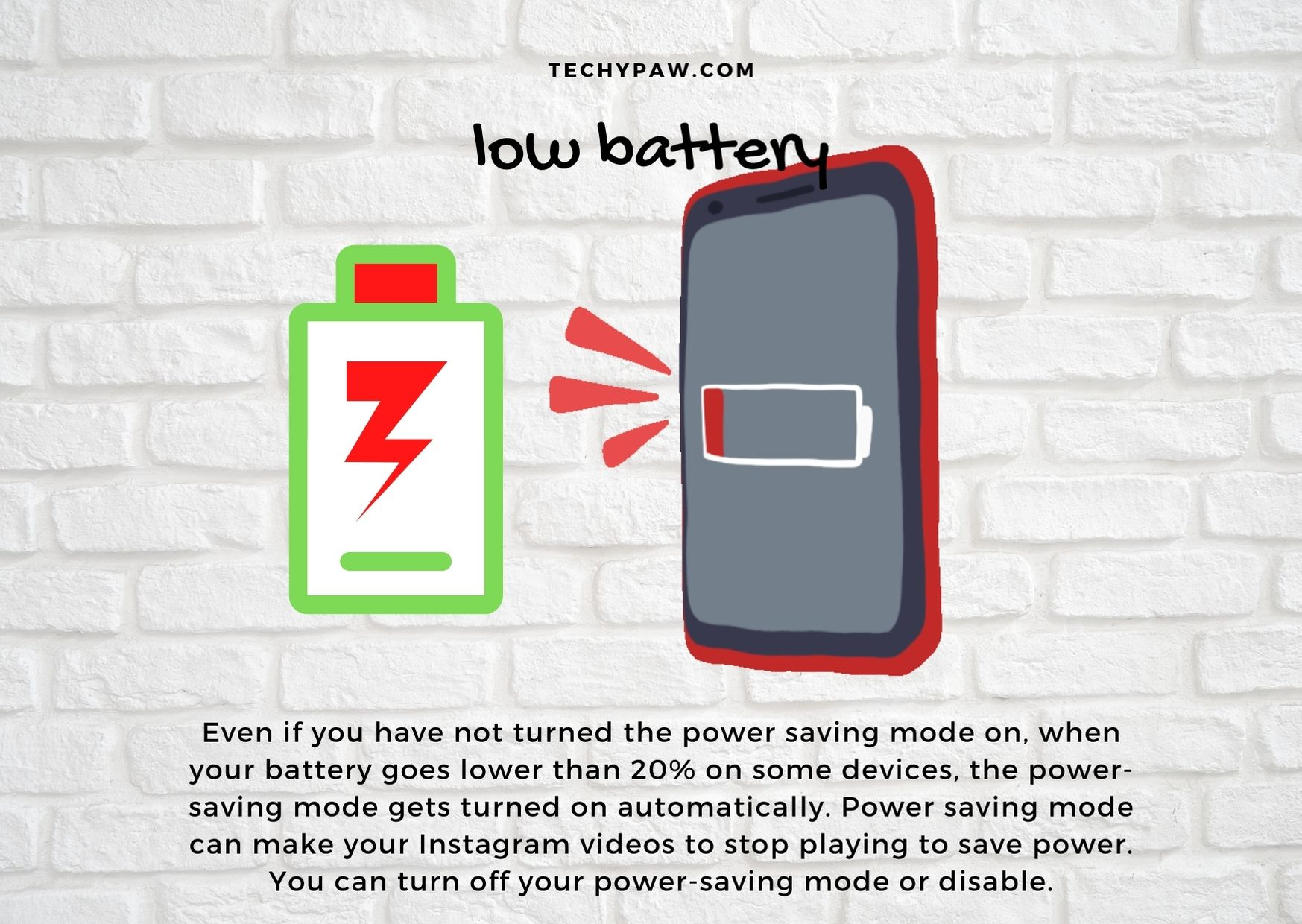 How to fix instagram video download failed issu- Low_phone_battery